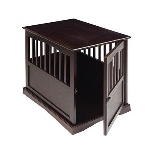 Good Dog Kennel Wood Medium Size Puppy Crate Pet Cage Wooden Furniture End Table  Bed
