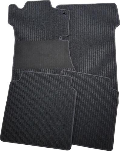Auto-Fußmatten passend für Mercedes SL R107 in Rips schwarz mit Trittschutz