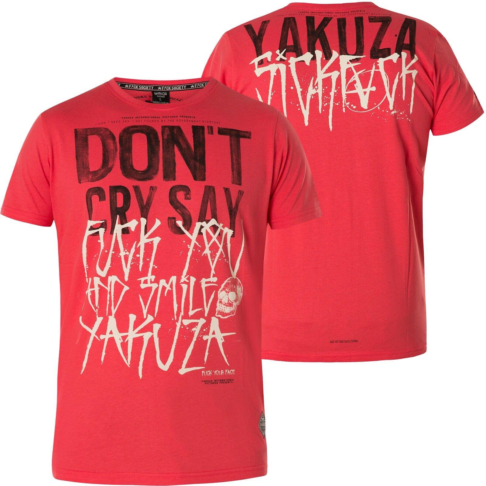 YAKUZA Smile T-Shirt TSB-13038 Geranium red T-Shirts