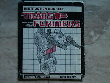 Transformers VINTAGE G1 1986 Hotspot Defensor Hasbro Instruction Book C-5 Cond!!