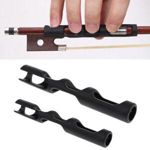 2-pezzi-7-8cm-in-gomma-nero-violino-Violin-arco-supporto-DITA-GRIP