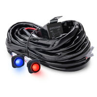 12ft Waterproof Dual Switches Wiring Harness For Front Rear Led Light Bar 60a12v