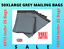 50-Mailing-Bags-9x12-034-10x14-034-Large-Grey-Plastic-Postal-Garment-Packing-Poly-Bags thumbnail 1