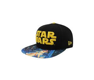 5f2208b0badb1 NEW ERA 9Fifty Star Wars Black Yellow Printed Visor Snapback Cap ...