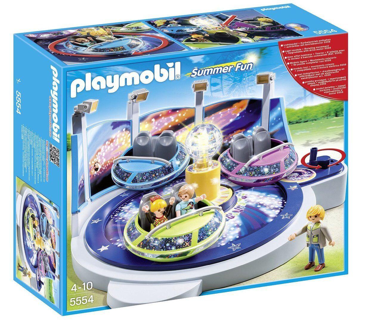 Playmobil 5554 - Atracción de Naves Giratorias con Luces - NUEVO