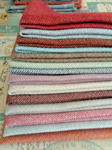 FAT QUARTER ISLES LEWIS WOOL TOUCH CHECK AUTUMN ORANGE GREY CREAM Check FABRIC
