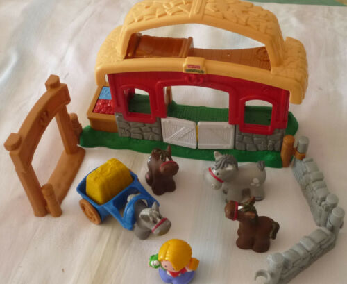 Kleinkindspielzeug Little People Pferdestall Fisher Price Kinder Spielzeug Pferde