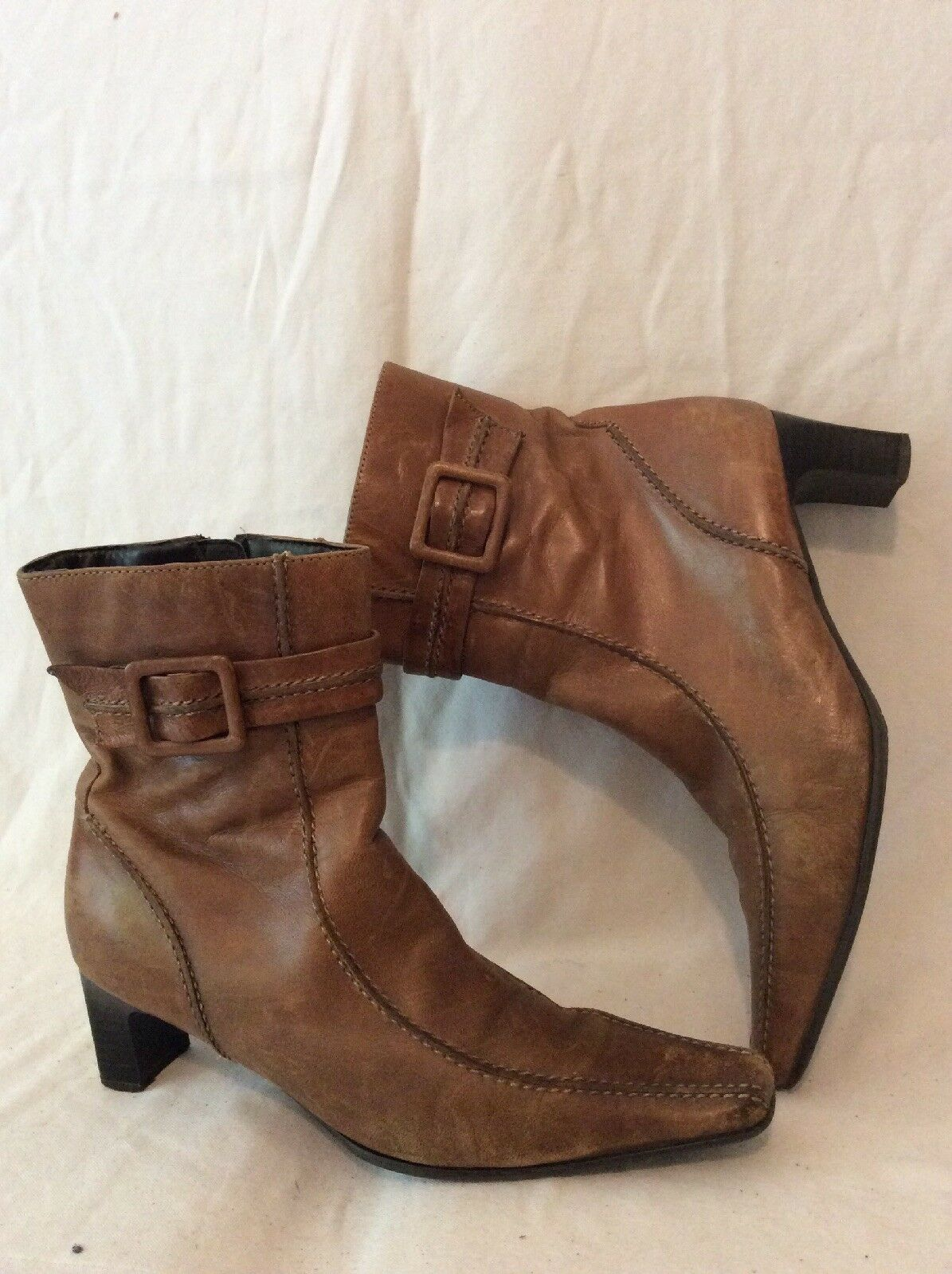 Principles Brown Ankle Leather Boots Size 39