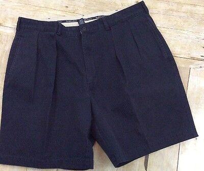 FLAWLESS! POLO RALPH LAUREN TYLER SHORT Men's Sz M NAVY BLUE Pleated Shorts
