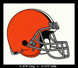 """Cleveland Browns NFL Vinyl Decal Sticker Reflective OFFICIAL NFL 3"""" Decal"""