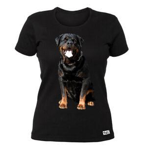 EAKS-Damen-T-Shirt-034-ROTTWEILER-034-Top-schwarz-Groesse-L-Hundeshirt-Tiershirt-NEU