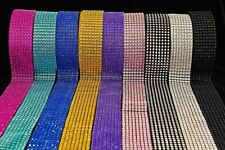 BLING RIBBON SPARKLY Sugarcraft Cake decorating Card craft mesh silver diamante