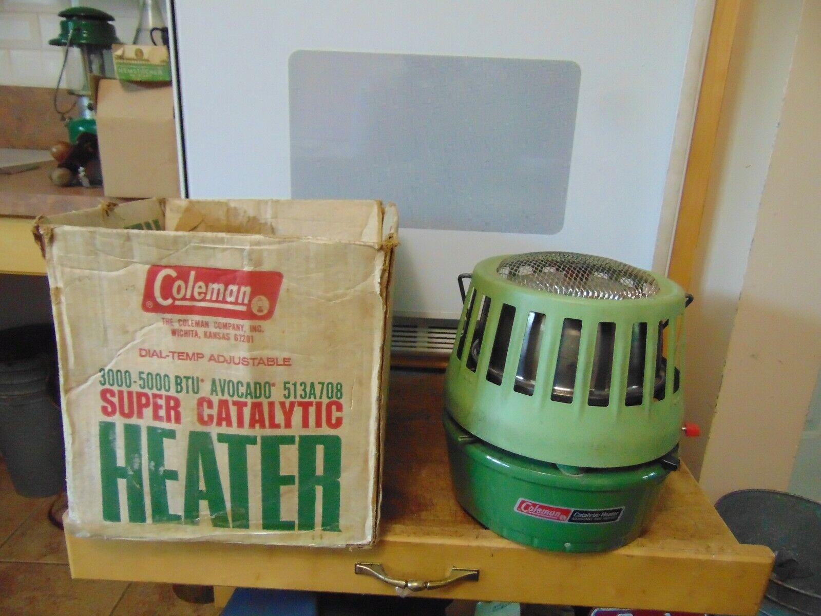 Vintage,  coleman  catalytic heater       3000 5000   btu   nice  7332  free shipping!