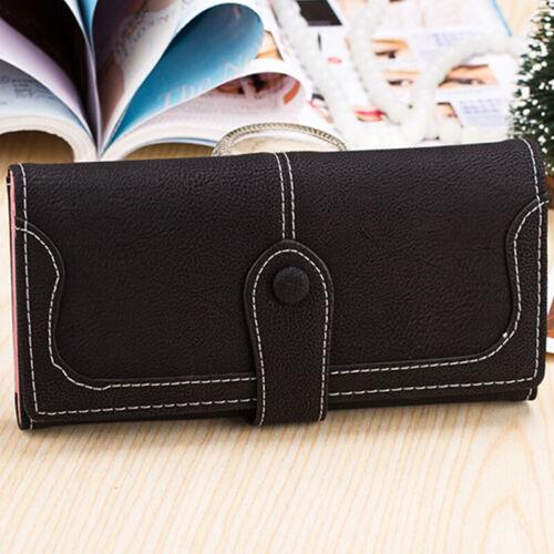 Women Purses Leather Wallet Clutch Long Card Holder Case Bag Handbag Candy Color