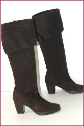 T Mørkbrun Castaner 36 Topptilstand Suede Boots Flaps ISIfPwq7