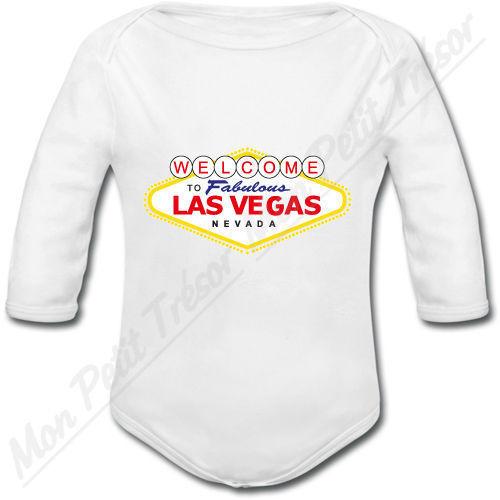 Body Bébé Las Vegas cadeau naissance voyage usa garçon fille