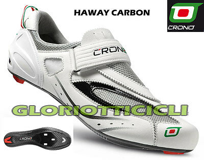 Radient Crono - Scarpe Specifiche Per Triathlon Haway Carbon Bianchezza Pura