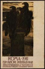 cartolina roma 1911 esposiz.internazionale ARTE CONTEMPORANEA cambellotti