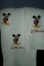 Mickey Mouse Posing Personalized 3 Piece Bath Towel Set Your Color Choice