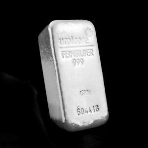 Umicore 1kg silver investment bar
