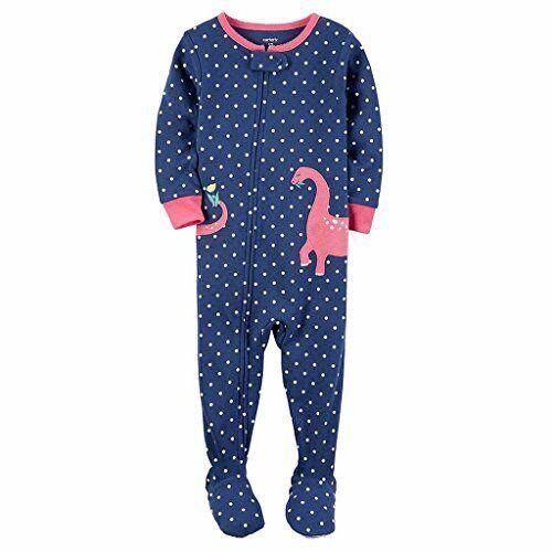 Toddler Girl/'s Dinosaur Dino Cotton Footless Pajama Sleeper