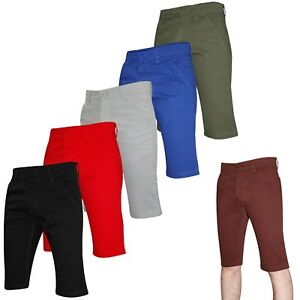 Kushiro-Mens-Designer-Slim-Fit-Knee-Length-Twill-Chino-Cotton-Chinos-Shorts