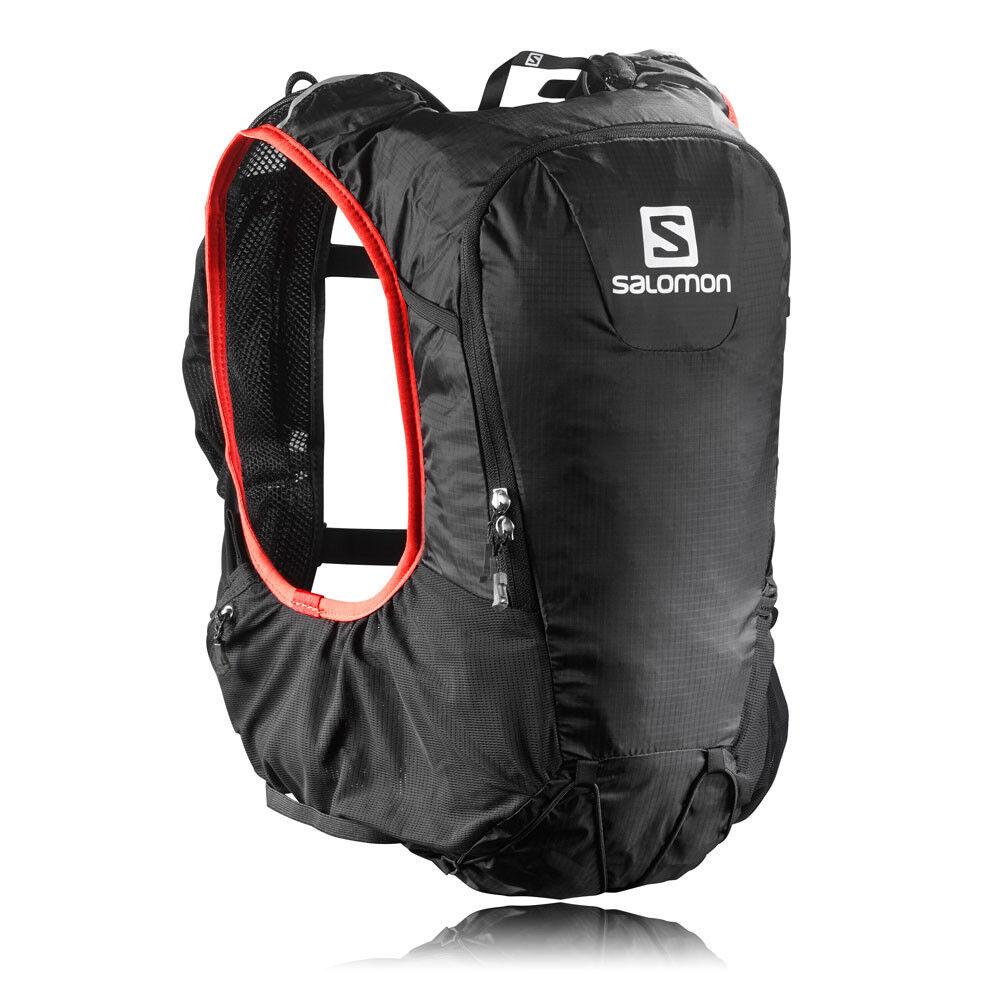 Salomon Skin Pro 10 10 10 Set rojo negro Waterproof Running Backpack Rucksack Bag 7aab1e