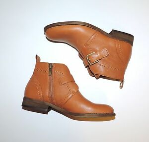 Women-039-s-Franco-Sarto-Leather-Short-Camel-Brown-Booties-Boots-Size-5-5