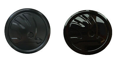 skoda characters black kodiaq emblem front rear gloss matt rs sportline scout ebay. Black Bedroom Furniture Sets. Home Design Ideas