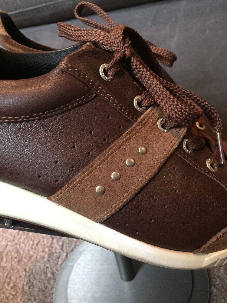 Scarpe casual da uomo ECCO uomos Leather Lace Up Casual Sneaker Size 45 Or 11/11.5