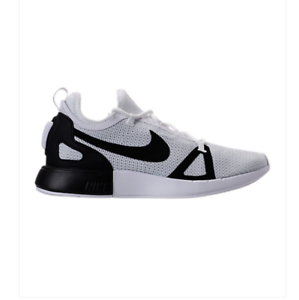 9.5 NEW  Nike Duel Racer Casual Shoes White/Black/Pure Platinum 918228-102