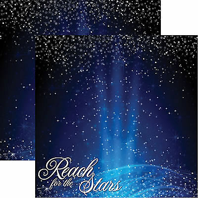 Reminisce REACH FOR THE STARS 12x12 Dbl-Sided Scrapbooking (2) Papers