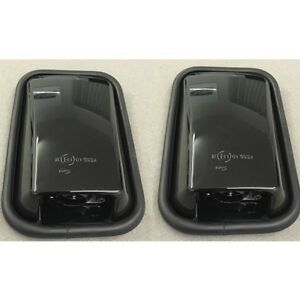 BLACK-GLOSS-MIRRORS-FOR-LAND-ROVER-DEFENDER-AS-A-PAIR-WITH-GLASS-LRC1066