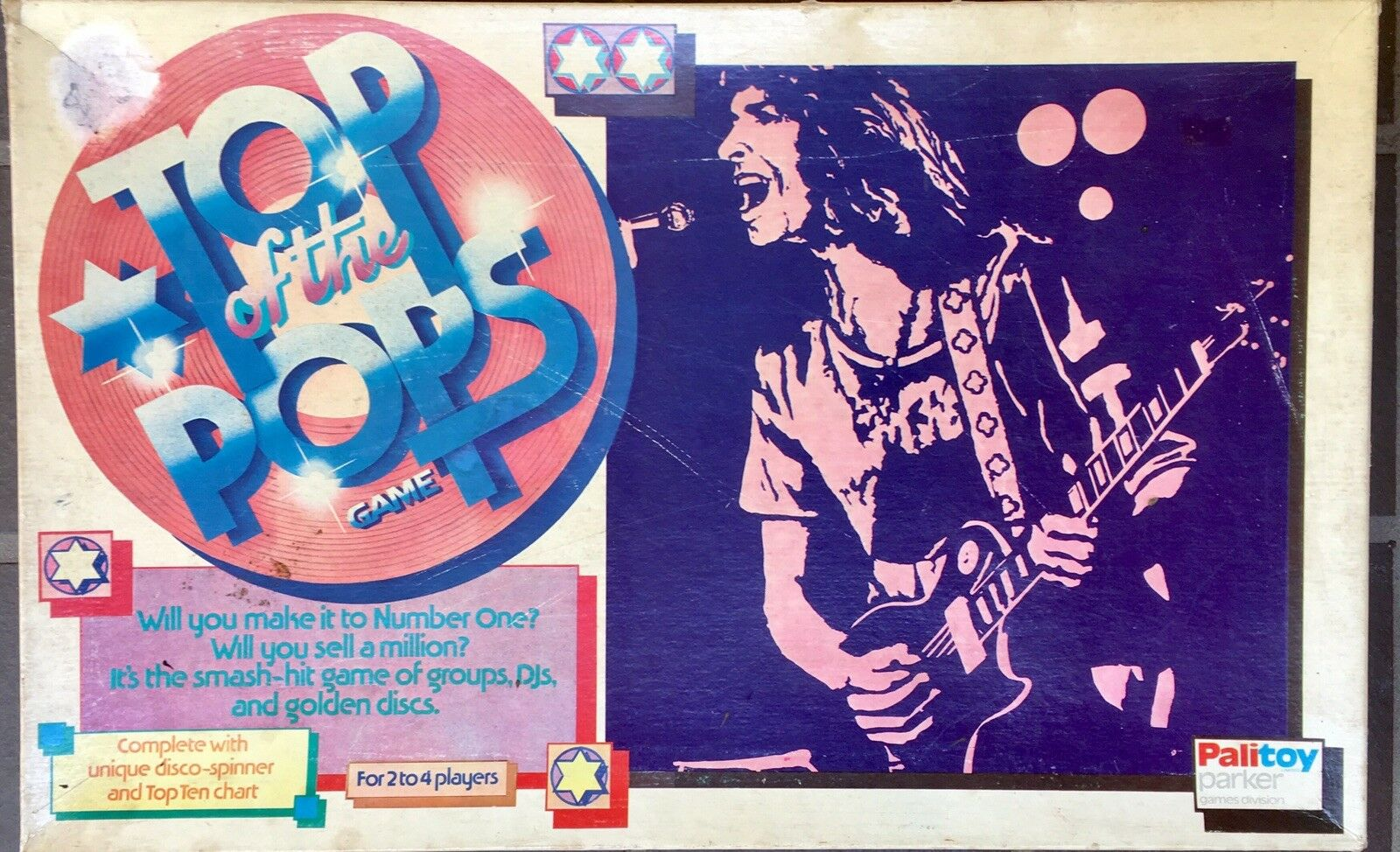 Top Of The Pops Vintage Board Game 1975 Good Condition
