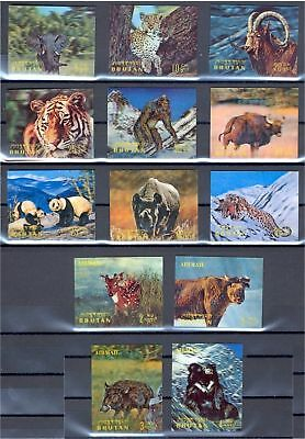 Superb Collection Mostly 3d Never Hinged Bhutan 1 Set Minisheets Used