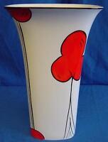 Emma Bailey Art Deco Cherry Tree Square Vase English Staffordshire Bone China