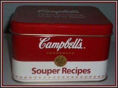 Campbells Recipe Souper Box Tin & Recipe Cards Makes Everything M'm M'm Better