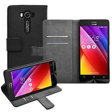 "Wallet BLACK Mobile Phone Asus ZenFone 2 Laser ZE550KL (5.5"") - Case Cover Pouch"