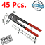 Threaded Insert Riveter Kit Interchangeable Nosepieces With Setting Tool 45 Pcs