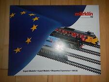 Märklin Katalog wie neu -Export- Modelle H0 1991 / 92   -17