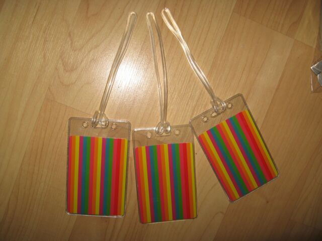 Gay Pride Luggage Tags - Rainbow Flag LGBTQ LGBT Queer Suitcase Tags Set (3) NEW