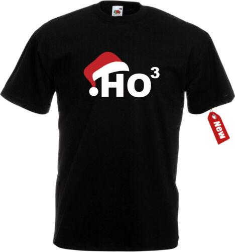 T-Shirt FUN Weihnachten Merry Christmas xmas mit Mütze HOHOHO = HO3 TOP