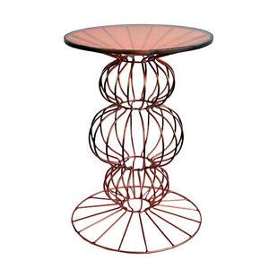 Image Is Loading Orianne Wire Side Table Spherical Base Av40544