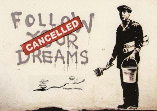 "Street Art /""Dreams/""  possibly associated with Banksy Kunstkarte"