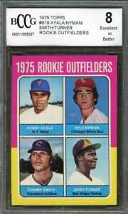 Ayala-Nyman-Smith-Jerry-Turner-Rookie-Card-1975-Topps-619-Padres-BGS-BCCG-8