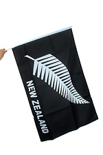 New Zealand All Blacks Rugby Silver Fern Flag Supporters WorldCup Fabric 3ftx2ft