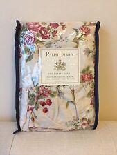 NEW ~ Vintage Ralph Lauren Emily Anne Rose Floral Ruffled Pillowcases