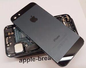 IPhone-5-Nero-Alloggiamento-Telaio-Posteriore-Back-Cover-con-parti-Grade-BC-ORIGINALE