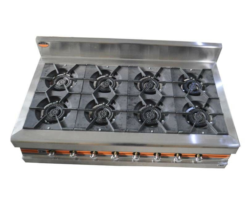 Stainless Steel  8 Burners Stove Cooking Household&Industry Gas Using Efficiently  welcome to choose
