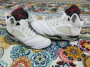 f022d6440d81 Air Jordan 5 V White Cement Retro Mens Sz 10 Basketball Shoes ...